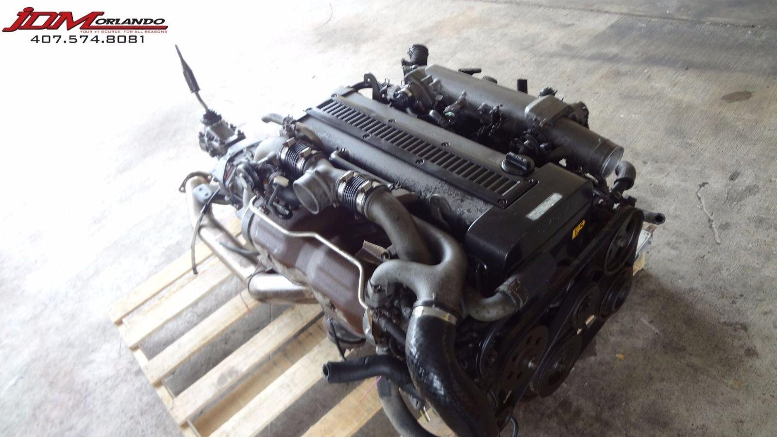 Toyota Supra Inline 6 Twin Turbo Engine R154 Transmission Wiring Ecu JDM  1JZ-GTE